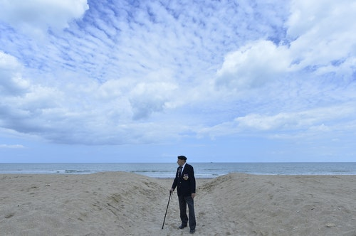 British D-Day veterans attend events to mark the 70th anniversary of the World War Two allied beach landings on D-Day on the coast of Normandy