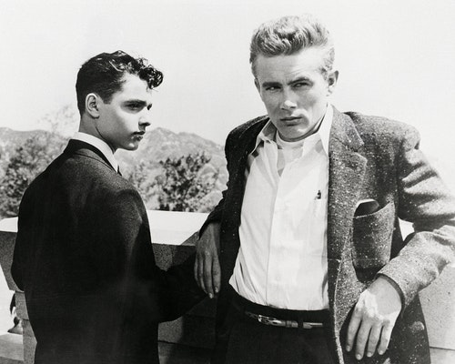 Sal Mineo and James Dean in Rebel Without a Cause