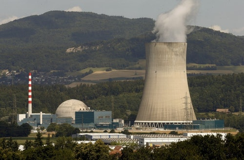 A general view shows the Swiss nuclear power plant Goesgen near the town of Daeniken