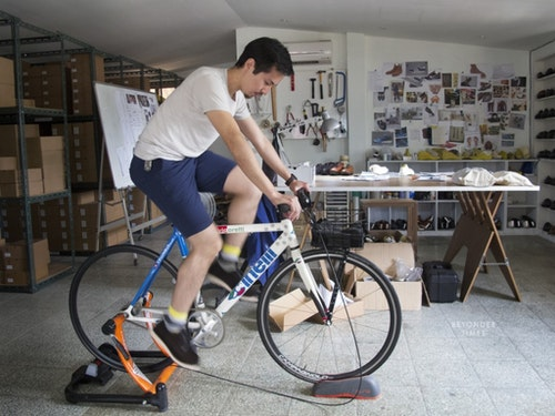 A bike placed in the office to test the quality of new shoes.|Photo Credit: beyondertimes