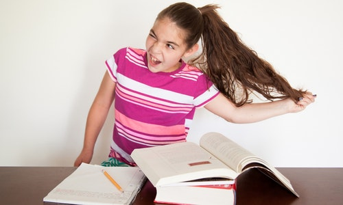 Children with ADHD, ADD, or similar conditions may experience frustration with tasks such as studying.