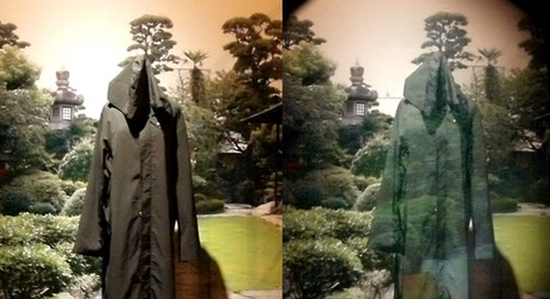 An invisibility cloak using optical camouflage by Susumu Tachi