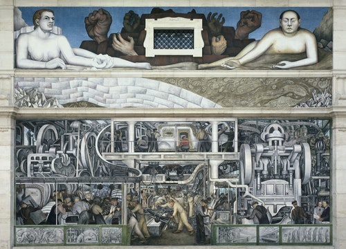 Murals by Diego Rivera in the Rivera Court of the Detroit Institute of Arts