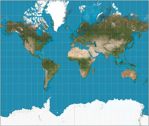 Mercator_projection_map