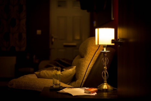 room_armchair_lamp_evening_home_chair_in